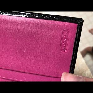 Coach Bags - Coach Black Patent Leather Card Case
